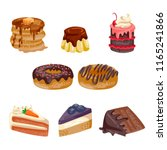 bakery and cakes collection | Shutterstock .eps vector #1165241866
