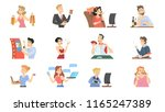 people with different bad...   Shutterstock .eps vector #1165247389