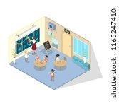 kindergarten classroom....   Shutterstock .eps vector #1165247410