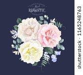 vector vintage floral... | Shutterstock .eps vector #1165248763