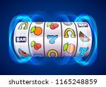 golden slot machine wins the... | Shutterstock .eps vector #1165248859