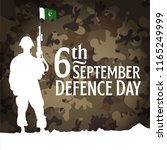 6th september. happy defence... | Shutterstock .eps vector #1165249999