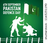 6th september happy defence day ... | Shutterstock .eps vector #1165251190