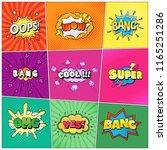 set of speech bubbles comic... | Shutterstock .eps vector #1165251286
