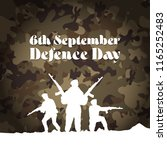 6th september. happy defence... | Shutterstock .eps vector #1165252483