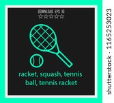 racket  squash  tennis ball ... | Shutterstock .eps vector #1165253023