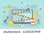 website under construction page.... | Shutterstock .eps vector #1165257949