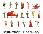 adult musicians and singers... | Shutterstock .eps vector #1165260529