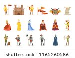 medieval cartoon characters and ... | Shutterstock .eps vector #1165260586