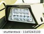 headlights and parking lights...   Shutterstock . vector #1165263133