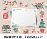 christmas decorative card ... | Shutterstock .eps vector #1165268389