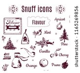 tobacco snuff icons   sketch... | Shutterstock .eps vector #1165269856