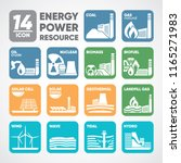 14 icon of energy bio fuel ... | Shutterstock .eps vector #1165271983