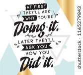 inspirational quote  motivation.... | Shutterstock .eps vector #1165279843