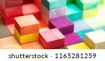 spectrum of stacked multi... | Shutterstock . vector #1165281259