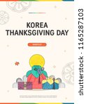 korean traditional thanksgiving ... | Shutterstock .eps vector #1165287103