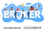 business broker concept... | Shutterstock .eps vector #1165288039