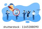 recruiter concept. group of... | Shutterstock .eps vector #1165288090
