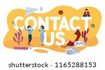 contact us concept. idea of... | Shutterstock .eps vector #1165288153