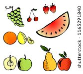 illustration set of few of ... | Shutterstock . vector #1165291840