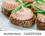 delicious mousse of smoked... | Shutterstock . vector #1165292266
