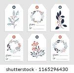6 redy to print christmas gift... | Shutterstock .eps vector #1165296430