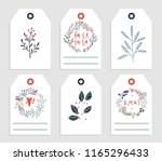 6 redy to print christmas gift... | Shutterstock .eps vector #1165296433