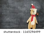 christmas decoration background ... | Shutterstock . vector #1165296499