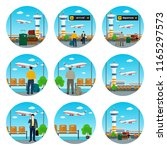 set of airport icons ... | Shutterstock .eps vector #1165297573