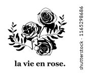 la vie en rose poster  | Shutterstock .eps vector #1165298686