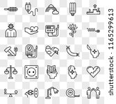 set of 25 transparent icons... | Shutterstock .eps vector #1165299613