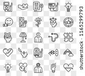 set of 25 transparent icons... | Shutterstock .eps vector #1165299793