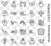 set of 25 transparent icons... | Shutterstock .eps vector #1165299856