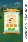 farm fruits level select screen ... | Shutterstock .eps vector #1165300339