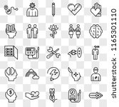 set of 25 transparent icons... | Shutterstock .eps vector #1165301110