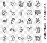 set of 25 transparent icons... | Shutterstock .eps vector #1165303816