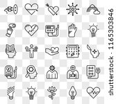 set of 25 transparent icons... | Shutterstock .eps vector #1165303846