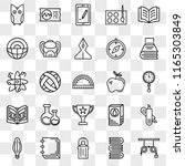 set of 25 transparent icons... | Shutterstock .eps vector #1165303849