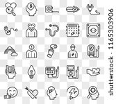 set of 25 transparent icons... | Shutterstock .eps vector #1165303906