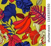 tropical bright pattern design  ... | Shutterstock .eps vector #1165305550