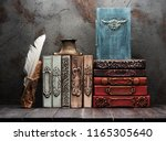 ancient books  manuscripts and... | Shutterstock . vector #1165305640