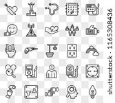 set of 25 transparent icons... | Shutterstock .eps vector #1165308436