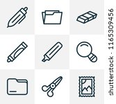 stationary icons line style set ... | Shutterstock . vector #1165309456