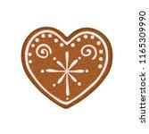 christmas ginger bread vector... | Shutterstock .eps vector #1165309990