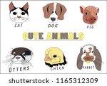 cute animals lots of pet. | Shutterstock .eps vector #1165312309