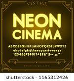 bright neon alphabet letters ... | Shutterstock .eps vector #1165312426
