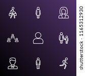person icons line style set... | Shutterstock .eps vector #1165312930