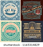 set of 4 vintage labels | Shutterstock .eps vector #1165314829