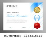 modern certificate of... | Shutterstock .eps vector #1165315816