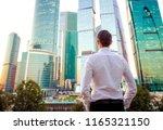 back view of businessman...   Shutterstock . vector #1165321150